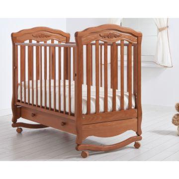 Кроватка детская Гандылян Шарлотта (качалка-колесо) (вишня)