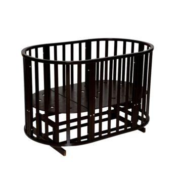 Кроватка-трансформер Антел Северянка 3 6 в 1 (поперечный маятник) шоколад