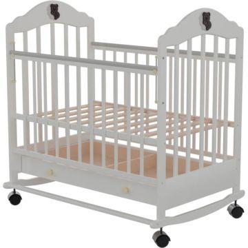 Кроватка детская Briciola 7 (качалка-колесо) (белая)