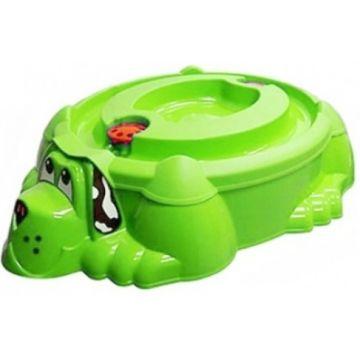 Песочница-бассейн Palplay Собачка с крышкой (Зеленый)