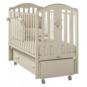 Кроватка детская Feretti Ricordo Swing (продольный маятник) (слоновая кость)