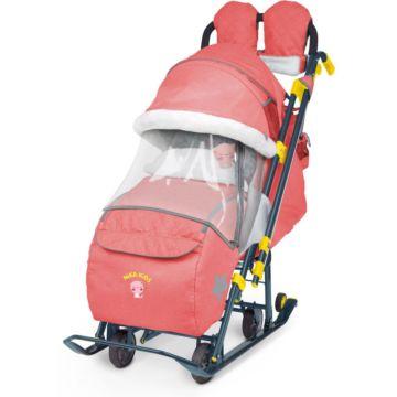 Санки-коляска Ника Детям 7-3 (терракотовый)