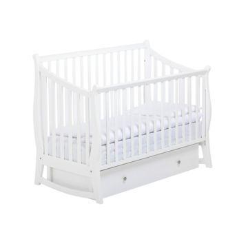 Кроватка детская Papaloni Maggy (поперечный маятник) (Белый)