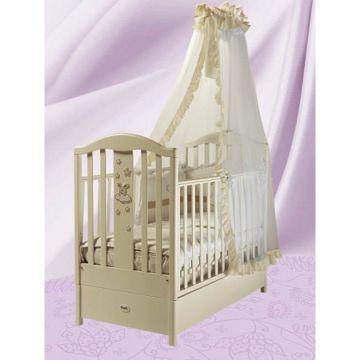 Кроватка детская Feretti FMS Romance (продольный маятник) (слоновая кость)