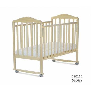 Кроватка детская СКВ-Компани Березка (качалка-колесо) Береза