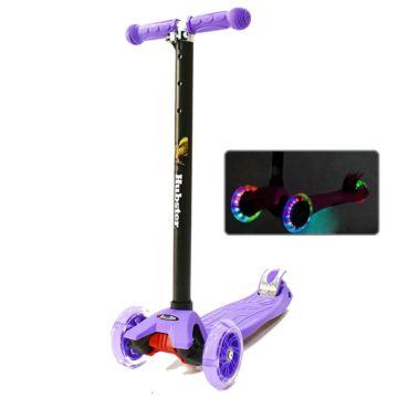Самокат Hubster Maxi Flash со светящимися колесами (фиолетовый)