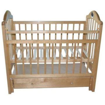 Кроватка детская Briciola 10 с продольным маятником (светлая)