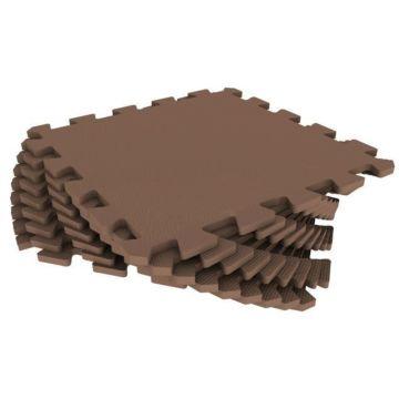 Мягкий пол Экополимеры 33*33 (коричневый)