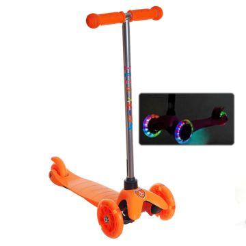 Самокат Sun Color Mars Kids Mini со светящимися колесами (оранжевый)