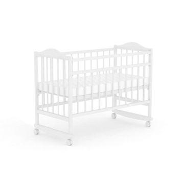 Кроватка детская Фея 204 (качалка-колесо) (Белый)