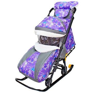 Санки-коляска Galaxy Luxe Елки