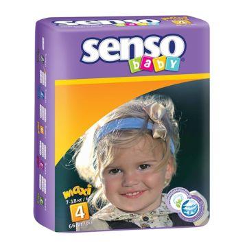 Подгузники Senso Baby Maxi (7-18 кг) 66 шт