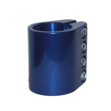 Хомут для руля Grit анодированный c 4-мя болтами 31.8 мм (синий)