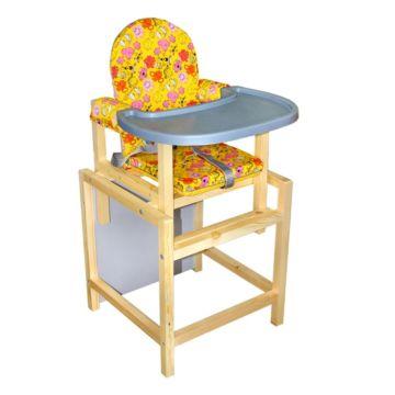 Стул-стол для кормления Вилт СТД 07 Пластиковая столешница (желтый)