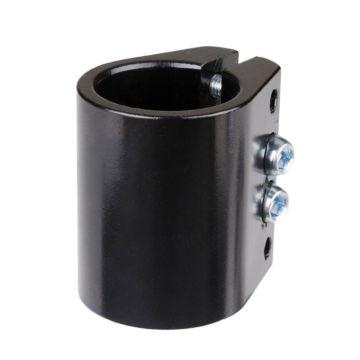 Хомут для руля Grit анодированный c 4-мя болтами 31.8 мм (черный)