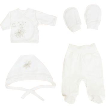 Комплект одежды для малыша Лео Зайка со стразами 4 пр.