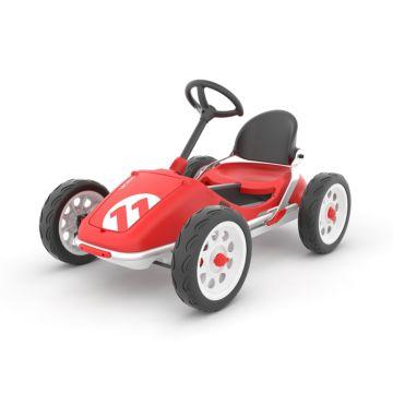 Детская педальная машина Chillafish Monzi EVA (красный)