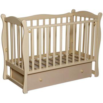 Кроватка детская Антел Северянка 2 (поперечный маятник) слоновая кость
