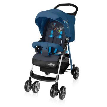 Коляска прогулочная Baby Design Mini (синяя)