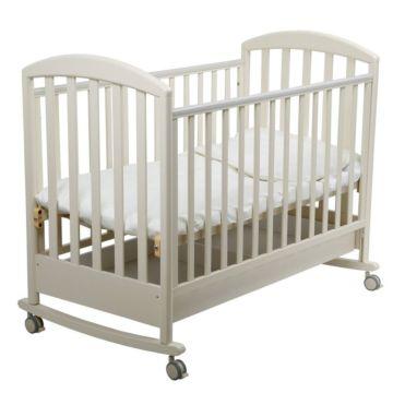 Кроватка детская Papaloni Джованни (качалка-колесо) (Слоновая кость)
