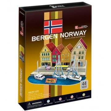 Игрушка CubicFun Квартал Берген (Норвегия)