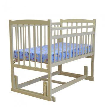 Кроватка детская Массив Беби 4 (поперечный маятник) (слоновая кость)