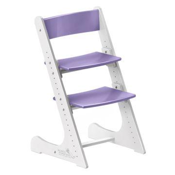 Растущий стул Конёк Горбунёк с лакокрасочным покрытием двухцветный (бело/сиреневый)