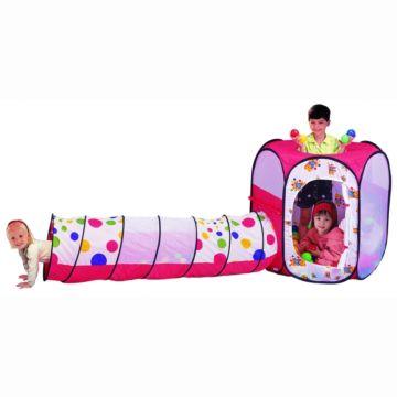 Детская палатка Calida с шарами Шестигранник и Тоннель
