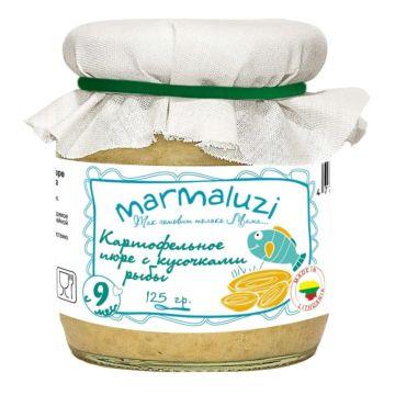 Пюре картофельное Marmaluzi с кусочками рыбы (с 9 мес. 125 г)