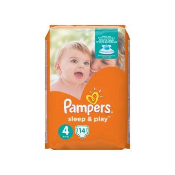 Подгузники Pampers Sleep&Play Maxi (8-14 кг) Ромашка 14 шт