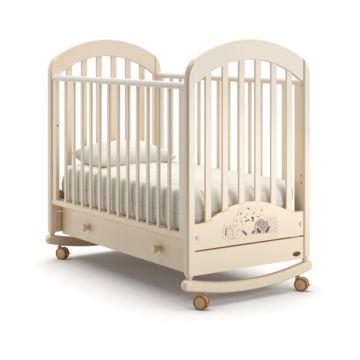Кроватка детская Nuovita Grano Swing (качалка-колесо) (слоновая кость)