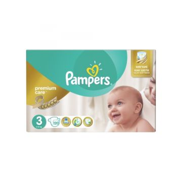 Подгузники Pampers Premium Care Midi (5-9 кг) 120 шт