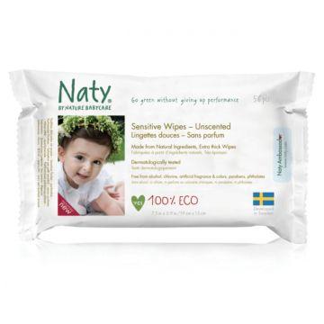 Влажные салфетки Naty с запахом алоэ 56 шт