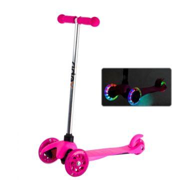 Самокат Ridex 3D Kinder со светящимися колесами (Розовый)