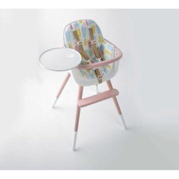 Стульчик Micuna OVO Luxe T-1533 Limited Edition розовый, текстиль Pineapple