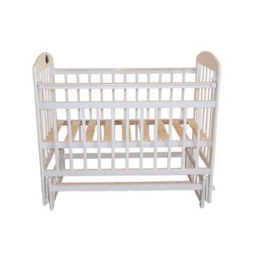 Кроватка детская Briciola 9 с продольным маятником (белая)
