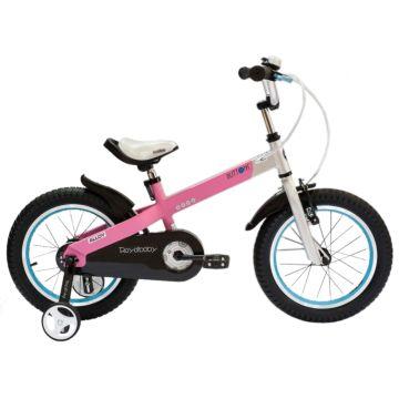 """Детский велосипед Royal Baby Buttons Alloy 18"""" (розовый/серебро)"""