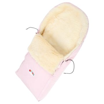 Меховой конверт для коляски Кроха Double Pink