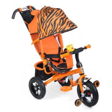 """Трехколесный велосипед Mini Trike Zoo с надувными колесами 12"""" и 10"""" (тигр)"""