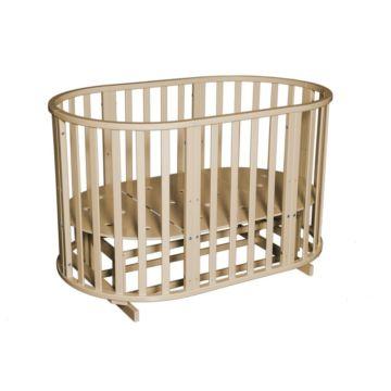 Кроватка-трансформер Кедр Любаша 4 6 в 1 (поперечный маятник) (слоновая кость)