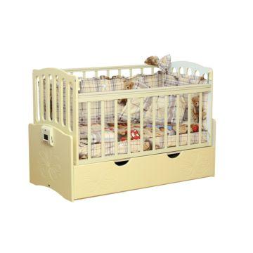 Автоматическая детская кровать Daka Baby Укачай-ка 03 (Ваниль)