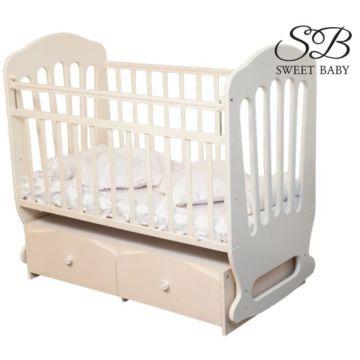 Кроватка Sweet Baby Sorriso с поперечным маятником (Слоновая кость)