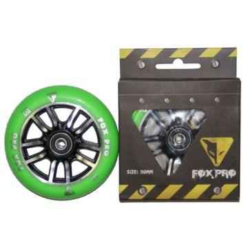 Колесо для самоката FOX 110 мм (зеленый/черный)