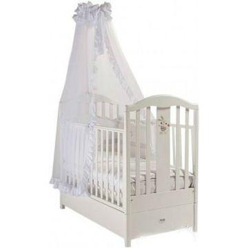 Кроватка детская Feretti FMS Ricordo (продольный маятник) (белая)