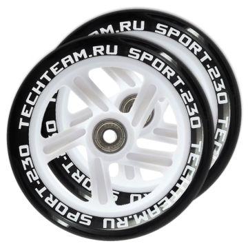 Набор колес и подшипников для самоката TechTeam 230 мм (белый)