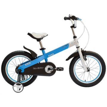 """Детский велосипед Royal Baby Buttons Alloy 16"""" (голубой/серебро)"""