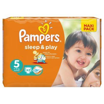 Подгузники Pampers Sleep&Play Junior (11-18 кг) Ромашка 42 шт