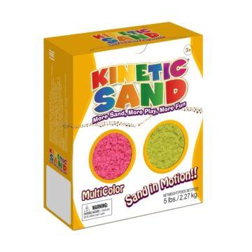 Кинетический песок Kinetic Sand 2.27 кг (розовый и желтый)