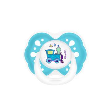 Пустышка Lubby Малыши и малышки с симметричным соском (от 0 мес.) (Голубой)