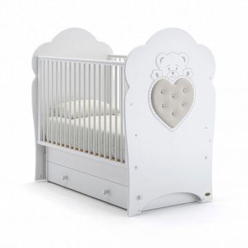Кроватка детская Nuovita Fortuna Swing (поперечный маятник) (белый)